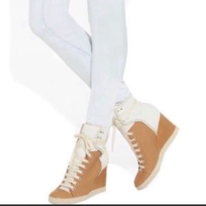 See any Chloe l Wedged Colorblock Sneakers